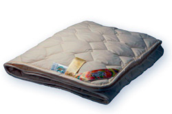 Одеяло 220 х 200 меховое хлопок тик