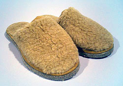 Туфли меховые верблюжьи