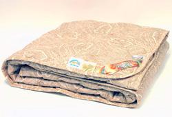 Одеяло верблюжьее Караван Комфорт полушерсть 140×205