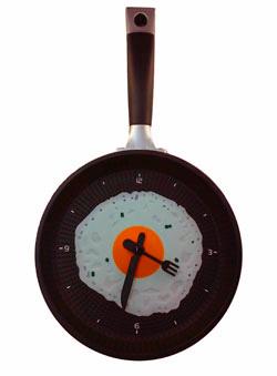 Кухонные часы яичница