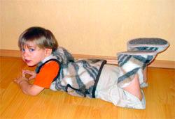 Шерстяные тапочки высокие для ребенка