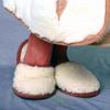 Домашние тапки-шлепанцы из шерсти мериноса