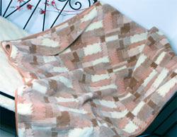 Односпальный шерстяной плед Кантри Светлый 140х200