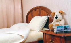 Шерстяное одеяло детское Меринос Локон