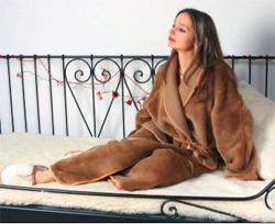 Верблюжий халат согревающий Chocolate