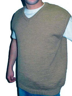 Безрукавка с натуральной шерстью мужская