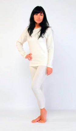 Женская термо-кофта с длинными рукавами из ангоры и овечьей шерсти
