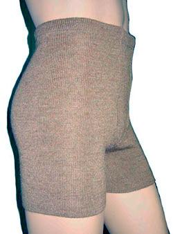 Вязанные термо-шортики эластичные женские