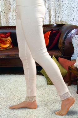 Согревающие панталоны из ангоры и хлопка удлиненные женские