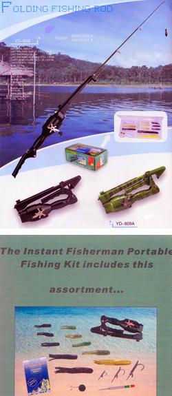 Инстант Фишерман – комплект для рыбалки склад ной удочкой