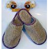 Тапки-шлепанцы домашние из меха испанского мериноса с подошвой из ПВХ
