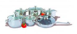 Комплект посуды из нержавеющей стали (12 предметов) ИРХ1203