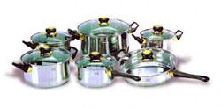 Комплект посуды из нержавеющей стали (12 предметов) ИРХ1201