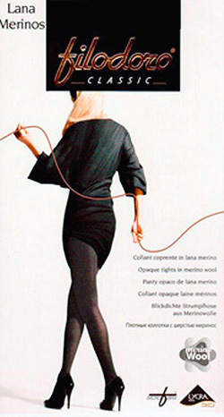 Колготки с шерстью (56% шерсти) Лана Мерино Филодоро