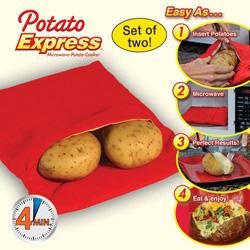 Пакет для приготовления картофеля в СВЧ