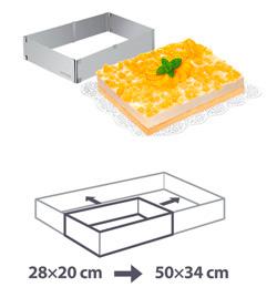 Регулируемая формочка для тортов