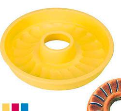 Силиконовая форма для выпекания кекса венок 24 см