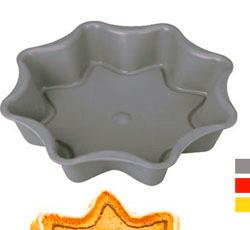 Форма из силиконового материала для пирога звезда 22 см