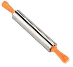 Кухонная скалка из стали с ручками